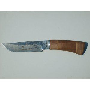 Разделочный нож Хантер дамаск с рисунком