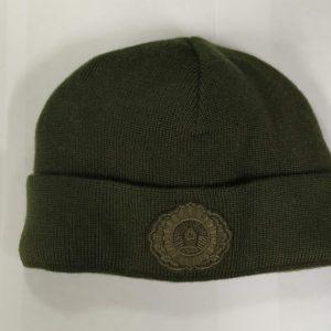 Зимняя шапка сотрудников МВД оливковая